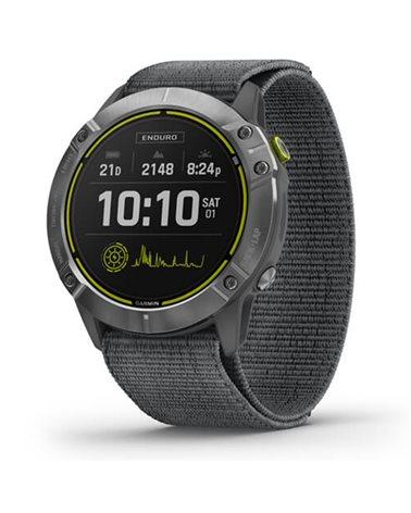 Garmin Enduro Wrist-Based HR GPS Multisport Watch, Silver Steel/Grey