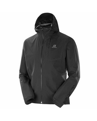 Salomon Bonatti Pro WP JKT Pertex Shield 2.5L Men's Waterproof Jacket, Black