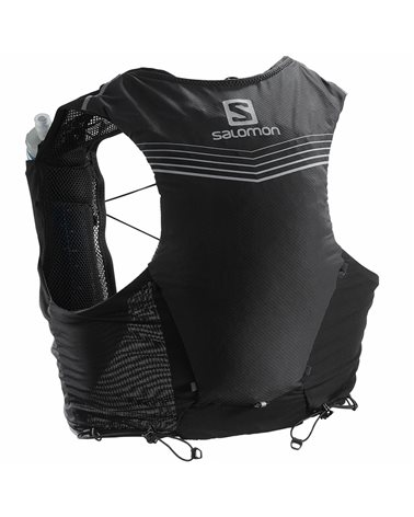 Salomon ADV Skin 5 Set Zaino Gilet Idrico Running, Black (2 Soft Flask da 500 ml Incluse)