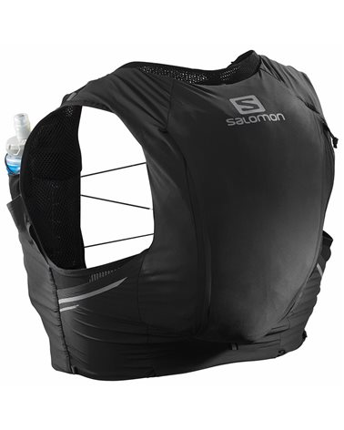 Salomon Sense Pro 10 Set Zaino Gilet Idrico Running, Black/Ebony (2 Soft Flask da 500 ml Incluse)