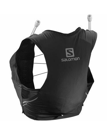 Salomon Sense Pro 5 W Set Zaino Gilet Idrico Running Donna, Black (2 Soft Flask da 500 ml Incluse)
