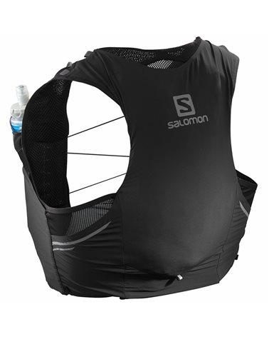 Salomon Sense Pro 5 Set Zaino Gilet Idrico Running, Black/Ebony (2 Soft Flask da 500 ml Incluse)