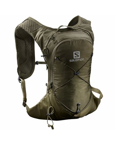 Salomon XT 6 Compatible Hydration Backpack 6 Liters, Olive Night/Martini Olive