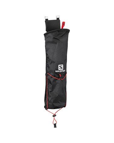Salomon Custom Quiver Poles Bag for Hiking/Trekking Backpacks, Black