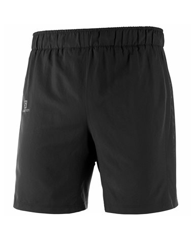 Salomon Agile 2in1 Men's Running Shorts with Inner Tight, Black