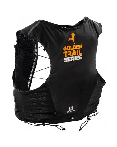 Salomon ADV Skin 5 Set Hydration Running Pack/Vest, Black/Autumn Blaze (2 500 ml Soft Flask Included)