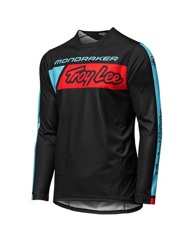 Mondraker - Troy Lee Designs Sprint LS Men's Long Sleeve MTB Jersey, Icon Black