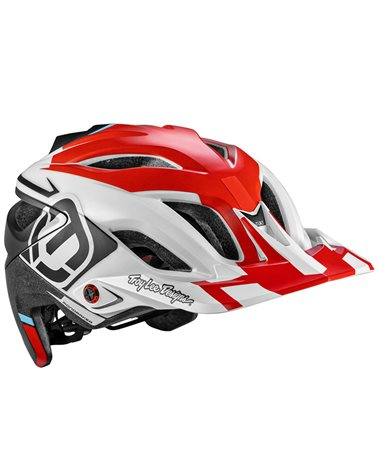 Mondraker - Troy Lee Designs A3 MIPS MTB Helmet, Red/White/Black