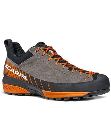 Scarpa Mescalito Men's Approach Shoes, Titanium/Orange