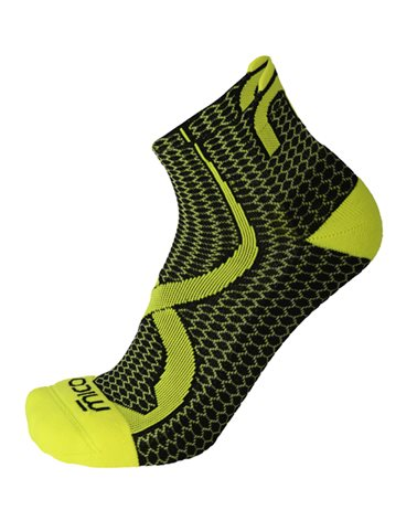 Mico Trail Run Odor Zero XT2 Light Weight Calze Corte, Nero/Giallo Fluo