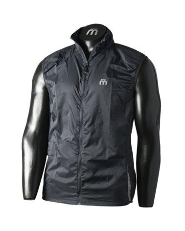 Mico X-Performance Run Unisex Windproof Full Zip Vest, Black