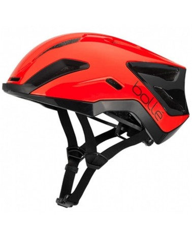 Bollé Exo Road Cycling Helmet, Shiny Red/Black