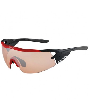 Bollé Aeromax Cycling Glasses, Matte Black/Translucid Red - Modulator Rose Gun Oleo AF Lens