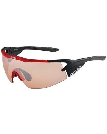 Bollé Aeromax Cycling Glasses, Matte Black/Translucid Red - Modulator Rose Gun Oleo AF Lens