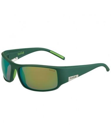 Bollé King Glasses, Matte Mono Green - Polarized Brown Emerald Oleo AF Lens