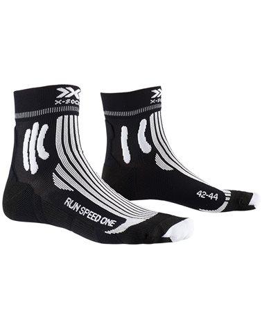 X-Bionic X-Socks Run Speed One 4.0 Calze Running, Opal Black/Arctic White