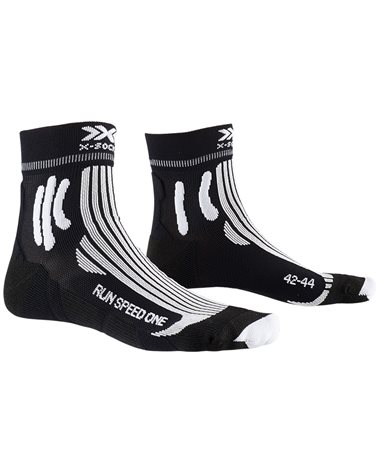 X-Bionic X-Socks Run Speed One 4.0 Running Socks, Opal Black/Arctic White