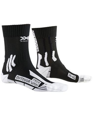 X-Bionic X-Socks 4.0 Trek Outdoor W Calze Trekking Donna, Opal Black/Arctic White