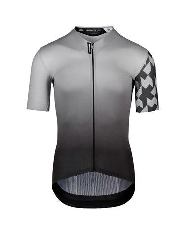 Assos Equipe RS Summer Prof Edition Men's Short Sleeve Full Zip Cycling Jersey, Gerva Grey