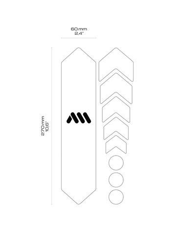 Rms Estensione Valvola Presta 30mm in Alluminio, Nero (Coppia)