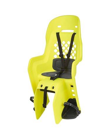 Polisport Joy Rear Rack Mount Bike Seat 22kg max, Yellow Fluo/Dark Grey
