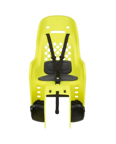 Polisport Joy Rear Rack Mount Bike Seat 22kg max, Yellow Fluo/Dark Grey