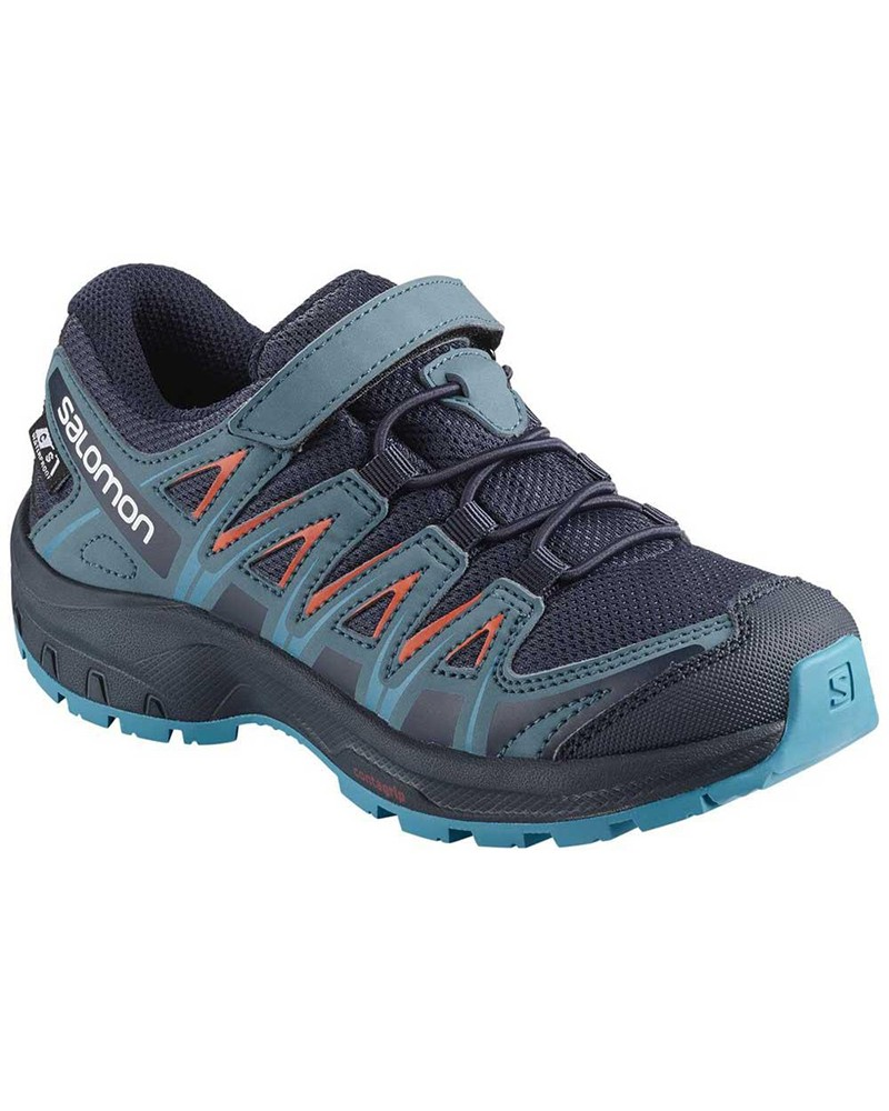 Salomon XA Pro 3D CSWP Kids Trail Running Shoes, Navy Blazer/Mallard Blue/Hawaiian Surf