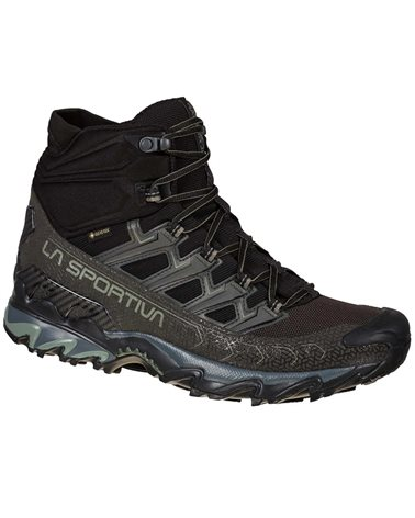 La Sportiva Ultra Raptor II MID Wide GTX Gore-Tex Scarpe Trail Running Uomo, Black/Clay