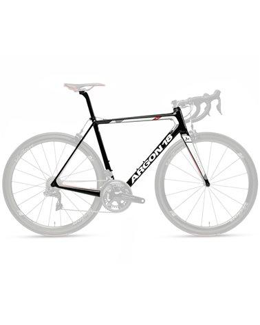 Argon 18 Gallium Pro Frame Kit - Ceramicspeed Stem, Black/White Gloss