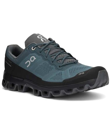 On Cloudventure Men's Trail Running Shoes, Shadow/Rock