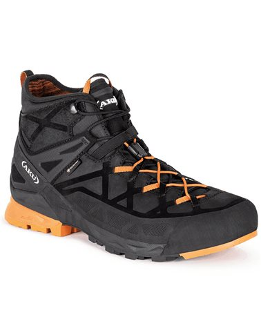 Aku Rock DFS MiD GTX Gore-Tex Men's Approach Boots, Black/Orange