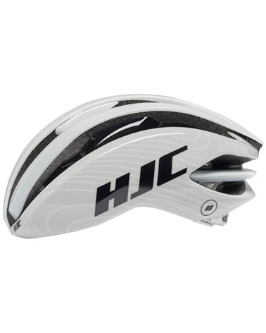 HJC Ibex 2.0 Road Cycling Helmet, White Line Grey (Glossy)