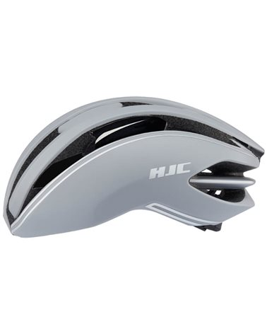 HJC Ibex 2.0 Road Cycling Helmet, Grey Silver Line (Matte)