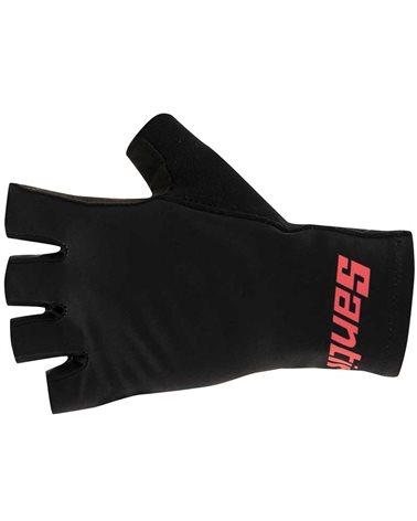 Santini Redux Istinto Long Summer Cycling Gloves, Black