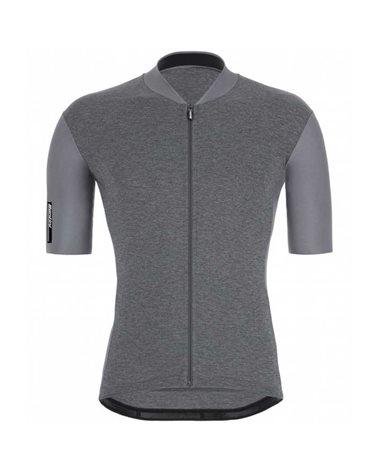 Santini Color Men's Short Sleeve Cycling Jersey, Gray