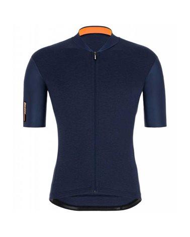 Santini Color Men's Short Sleeve Cycling Jersey, Nautica Blue