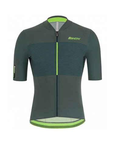 Santini Redux Istinto Men's Short Sleeve Cycling Jersey, Military Green