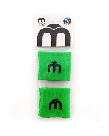 Mico Extra Dry Polsino Tergisudore 7 cm, Verde Fluo (Taglia Unica)