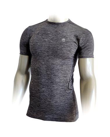 Mico Extra Dry Skintech Multisport Men's Round Neck Short Sleeve Baselayer, Anthracite Melange