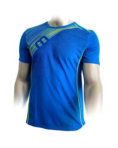 Mico X-Performance Run Men's Round Neck Short Sleeve Baselayer, Cobalt
