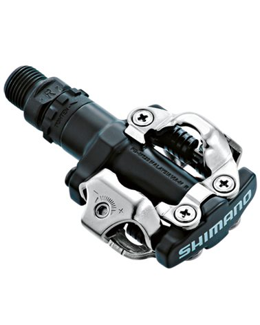 Shimano M520 SPD Off-Road Bike Pedals with SM-SH51 Cleats, Black