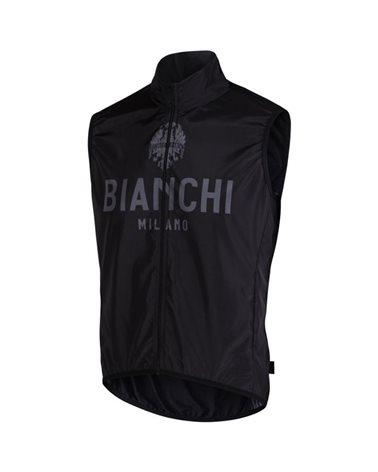 Bianchi Milano New Passiria Men's Windproof Vest, Black