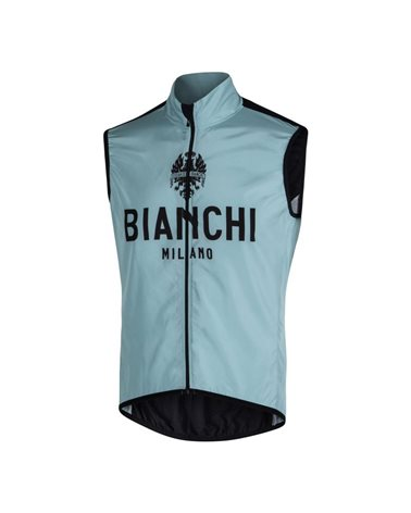 Bianchi Milano New Passiria Gilet Antivento Uomo, Celeste Bianchi/Nero