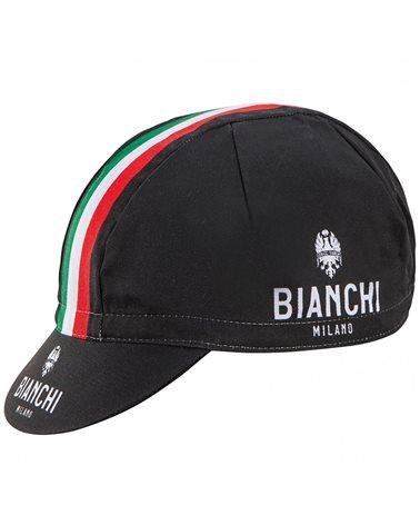 Bianchi Milano Neon Cappellino Ciclismo, Nero/BCO (Taglia Unica)