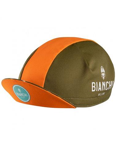 Bianchi Milano Neon Cycling Cap, Olive Green/Papaya (One Size Fits All)