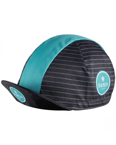 Bianchi Milano Neon Cycling Cap, Black/Celeste Bianchi (One Size Fits All)