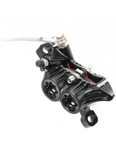 Hope Tech3 V4 Braided Downhill/Freeride 4-pistons Rear Disc Brake Kit, Black