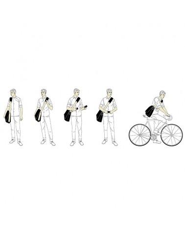 Brooks Barbican Messenger M Shoulder Bag Borsa a Tracolla Ciclismo 13 L, Grey