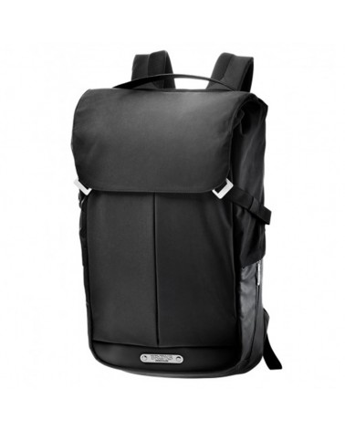 Brooks Pitfield Flap Top Backpack Zaino Ciclismo Impermeabile 24/28 L, Black