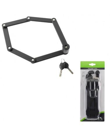 BTA Bycicle Folding Lock 840mm, Black